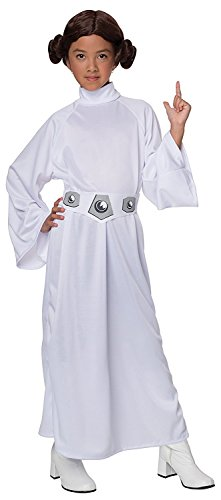 [Star Wars Child's Deluxe Princess Leia Costume, Small] (Authentic Princess Leia Costumes)