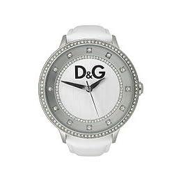 D&G Dolce & Gabbana Primetime White Crystal  Silver Dial Women's Watch #DW0516