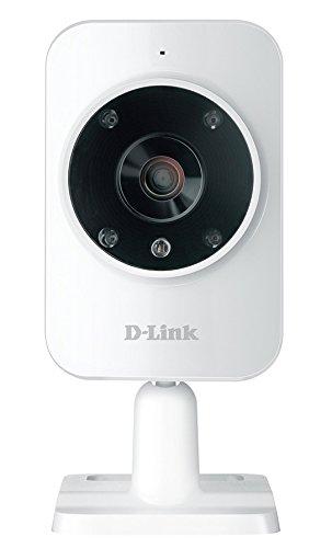 D-Link DCS-935L mydlink Home Videocamera di Sorveglianza Cloud con Monitor HD, Visore Notturno, Rilevamento Suoni e Movimenti, Notifiche Push per iPhone/iPad/Smartphone, App Gratuita, Bianco