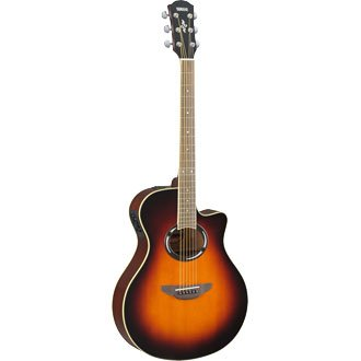 Yamaha APX500II Thinline Cutaway Acoustic-Electric Guitar Old Violin Sunburst