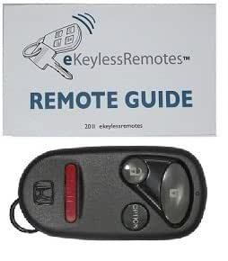 """1996-1997 Honda Del Sol """"Dealer Installed System*"""" Keyless Entry Remote Fob Clicker With Do-It-Yourself Programming and eKeylessRemotes Guide"""