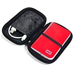 Bluecell Black 2.5-Inch Carrying Case/Bag for My Passport Portable Drives