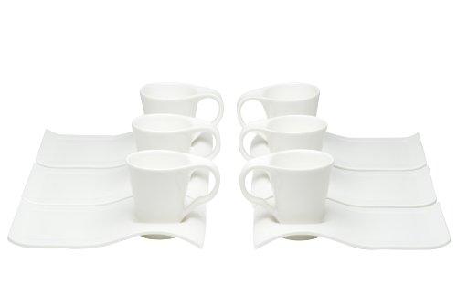 Red Vanilla Fare Espresso Cups And Saucers, 4-Ounce, Set of 6 (Red Espresso Set compare prices)