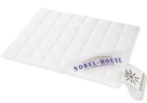 NOBEL HOUSE - Luxus Daunendecke - SOMMER - 135x200cm - 90% Daunen / 10% Federchen - 250 gr. - Deutsches Qualitätsprodukt - 975.98.010