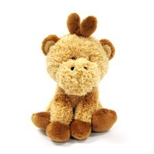 Noah's Friends 7 Inch Gold Giraffe Baby Rattle - Soft Plush Animal