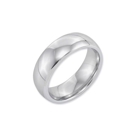 White Tungsten Domed 8mm Polished Band