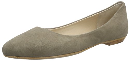 Fred de la BretoniereFred pointy ballerina leather sole 1/2 sacchetto made Delhi - Ballerine Donna , Grigio (Grigio (grigio)), 38
