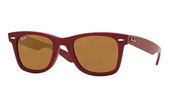 Ray Ban Rb2140 Original Wayfarer Dark Red / Gold Mirror Kunststoffgestell Sonnenbrillen, 47mm