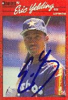 Eric Yelding Houston Astros 1990 Donruss Autographed Hand Signed Trading Card. by Hall+of+Fame+Memorabilia