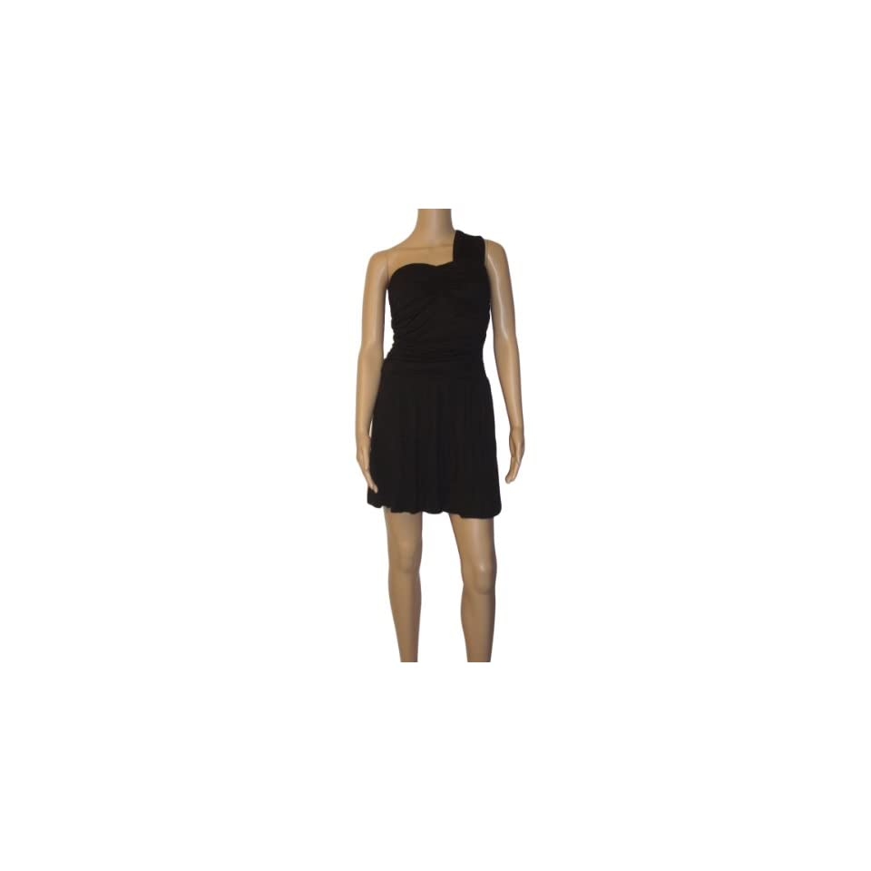 Ooh La La Mink One Shoulder Little Black Dress 900620S small black