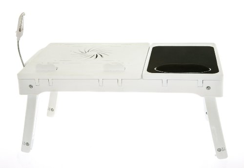 Multi Functional Laptop Table Stand With Internal Cooling Fan And Built-In Led Light