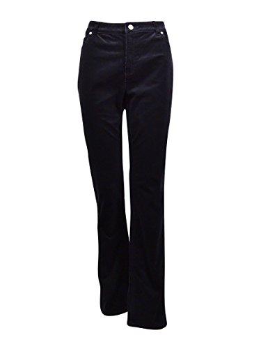 Charter Club Women's Lexington Straight Corduroy Pants (16, Deep Black) (Women Pinstripe Pants compare prices)