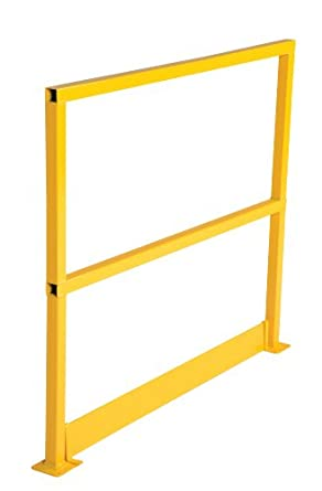 "Vestil SQ-48-TB Square Safety Rigid Handrail with Toeboard, Steel, 50-1/2"" Length, 41-5/8"" Height"