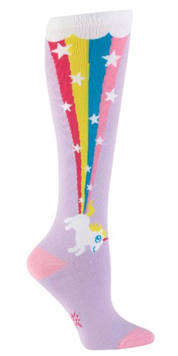Unicorn Rainbow Blast Knee High Tube Socks