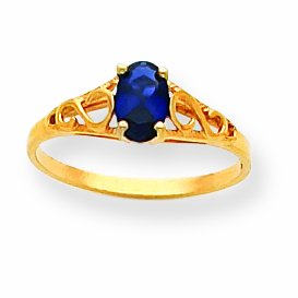 14k Madi K Synthetic Sapphire Spinel Ring