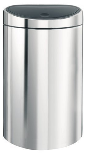 Brabantia Touch Bin, 40 Litre, Brilliant Steel