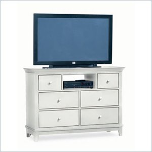 Cheap American Drew Sterling Pointe Fully Assembled TV Stand in Off-White Finish (181-585WX)