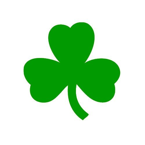 2 Pack Irish Shamrock Clover Sticker Decal Irish Flag CHOOSE SIZE!
