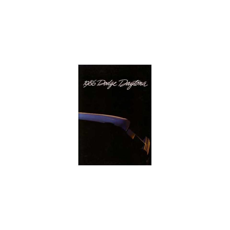 1986 Dodge Daytona Sales Brochure Literature Book Advertisement Options Specs