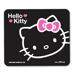 Sanrio HELLO KITTY Mousepad Mouse Pad Mat ( Black ) from pcpop