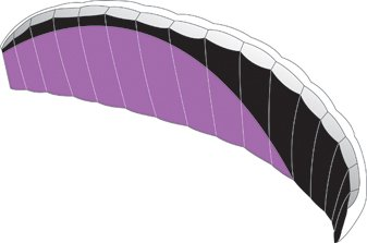 Picture of Premier Kites & Designs Speed Foil 4 X, Purple&Black Swish (B000MWFP7Y) (Puzzle Accessories)