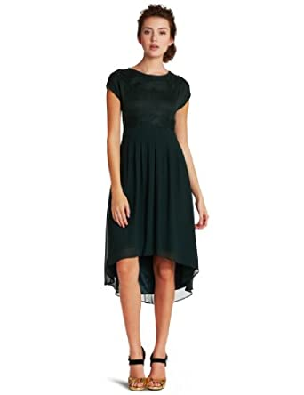 Jessica Simpson Women's Sweater Top Combo Dress, Dark Green, 2