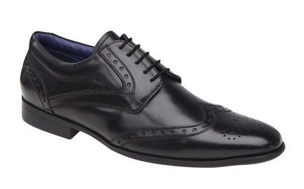 Mens Very Smart Black Leather Brogues By Route21 Uk Size 9