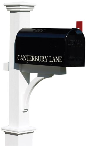 Lazy-Hill-Farm-Designs-999198-Bristol-Mailbox-Hand-Fabricated-Black-10-Inch-High-by-8-Inch-Wide-by-21-Inch-Depth