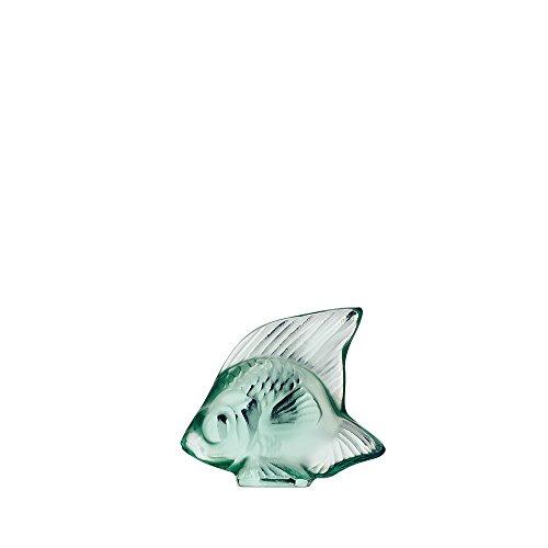 Lalique-Animals-Guarnizione a forma di pesce, colore: verde menta