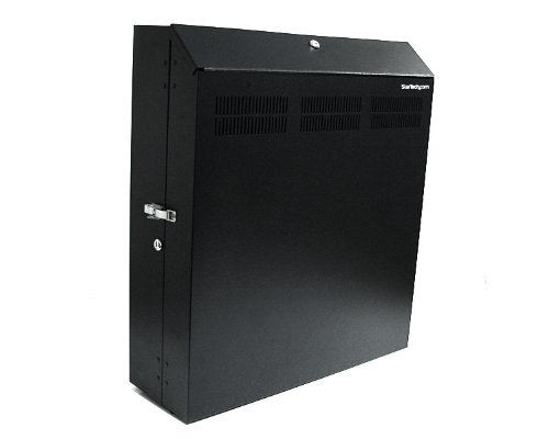 Startech 4U 19 inch Secure Horizontal Wall Mountable Server Rack Includes 2 Fans