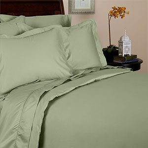 Rayon From Bamboo Duvet Cover Set - King/ Cal King Sage 100% Silky Bamboo 3Pc Duvet Set