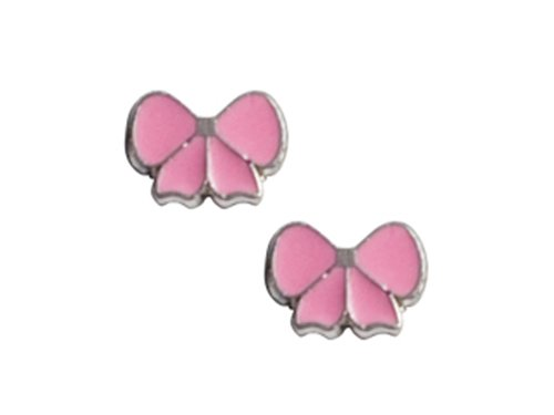925 Sterling Silver Childrens Pink Ribbon Earrings LIFETIME WARRANTY