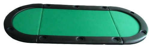 Da Vinci 10 Player Oval Poker Table Top w/10 Cup Holders & Carry Bag – 79″ x 36″