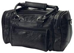 "Best Cheap Deal for RoadPro PLB-003 Black 12"" Patchwork 'Leather-Like' Shave Kit Bag from RoadPro - Free 2 Day Shipping Available"
