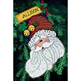 Dimensions Santa Sparkle Stocking Needlepoint Kit
