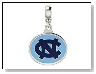 North Carolina Tar Heels College Drop Charm Fits Most Pandora Style Bracelets Including Chamilia Troll and More. High Quality and in Stock for Fast Shipping