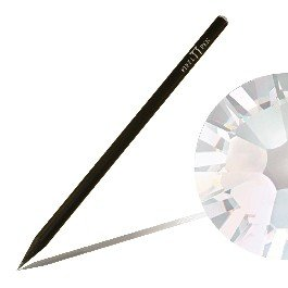 Bleistift mit SWAROVSKI ELEMENTS Piffl Pen schwarz mit Crystal Moonlight (001 MOL)