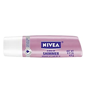Nivea a Kiss of Shimmer Radiant Lip Care SPF 10, 0.17-Ounce Sticks (Pack of 6)