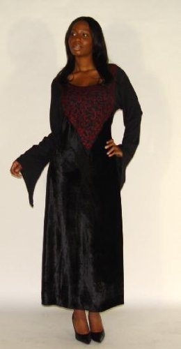 Cheap Velvet Patch Plus Size Hand Embroidered Womens Dress Gown Sizes Available 1x 2x 3x 4x 5x