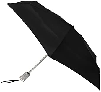 Totes Ladies Signature Basic Automatic Compact Umbrella,Black,One Size