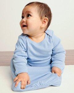 Bella Infant 5.8 Oz. Baby Rib Sleeper - White - 6-12Mos front-916605