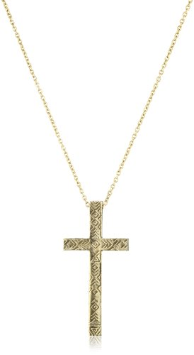 House of Harlow 1960 Engraved Cross Pendant Necklace