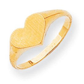 Genuine IceCarats Designer Jewelry Gift 14K Signet Ring Size 6.00