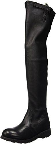 Bikkembergs Vintage 734 High Boot W S.Leather/Leather, Scarpe a Collo Alto Donna, Nero, 36 EU