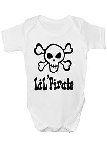 Lil ' diseño de piratas para Calavera y DE REGALO de carcasa Babygrow diseño para niño bebé de calavera/de costura para chalecos de chica