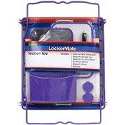 Lockermate Purple School Locker Kit - Extra Tall Shelf, Dry Erase Board, Mirror, Storage Cup & Magnets