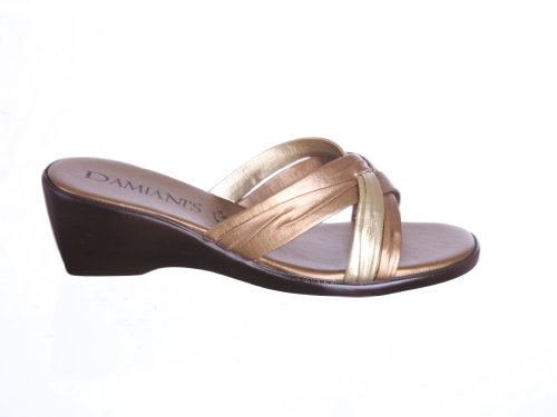 Bronze Wedge Sandals front-1023306