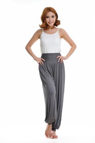 Wyz - Pantaloni bloomers da donna per Yoga o sport in tessuto 95% modal