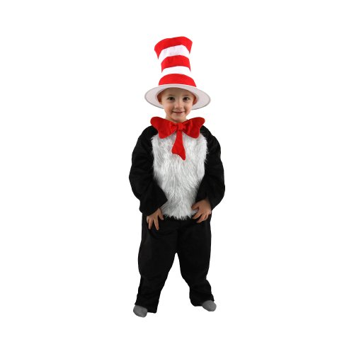 Dr. Seuss Cat in the Hat Costume, Black/white