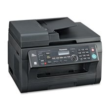"Panasonic Products - Multifunction Printer, Laser, 20 Sht Cap, 16-1/2""x17""x12"", BK - Sold as 1 EA - Multifunction network laser printer scans, copies and faxes and features built-in 10/100 Base-TX Ethernet and High Speed USB 2.0 interfaces. Print 24 pages per minute in color and black/white with 600 x 600 dpi. The first page is out in 12 seconds. GDI printer driver offers the ability to add watermarks to printed documents, print or create document Overlays, merge up to 16 documents on a single s"
